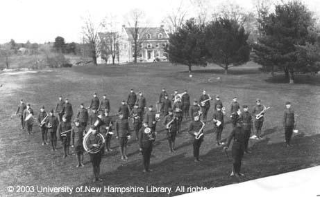 UNH Band Block 1924
