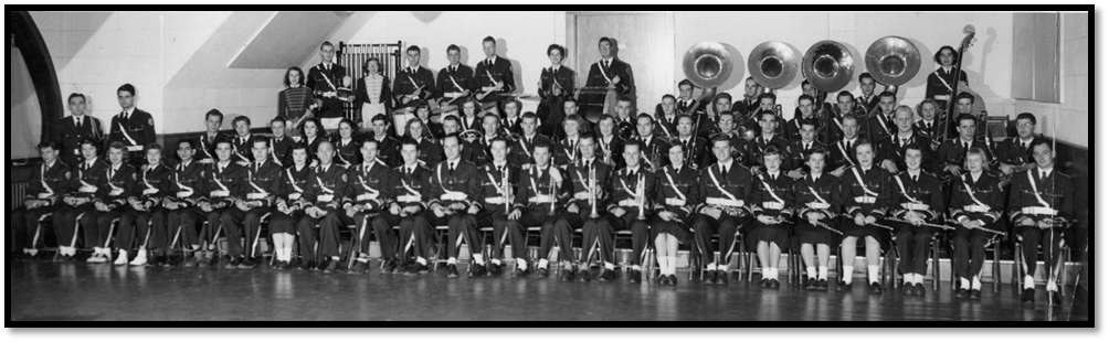 The UNH Band under Reynolds and Owen - 1953